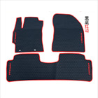 red and black car mats - Genuine Fit For 2007-2013 year Toyota Corolla Rubber Floor Mats OEM Factory
