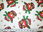 Discount Fabric Cotton Apparel Christmas Sledding Mouse Snowflakes 21T