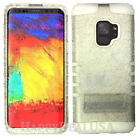 for Samsung Galaxy S9 & Plus - KoolKase Hybrid Silicone Cover Case GLITTER CLEAR