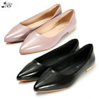 Nis Fashion Women Ballet Flats Pointed Toe Slip-On Boat Shoes Work Casual Loafer
