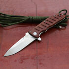 Enlan Bee Outdoor Folding Knife Wood Handed 8Cr13mov Blade Best Gift EL-01
