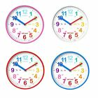 Acctim Wickford Kids Wall Clock in Pink/White/Red/Blue 22520 22522 22524 22529