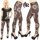 STRIPED SNAKES SERPENTS PRINTED LEGGINGS size 8-18  GOTHIC  ALTERNATIVE