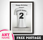 Personalised Fulham  FC Football Home Shirt 17 18 Print Picture Gift Lilywhites