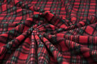 Antipill Red Tartan fleece fabric Warm Burns night blanket scarf material 5 MTR