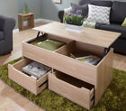 The Ultimate Storage Coffee Table with 2 Drawers and Lift Up Top In 4 Colours