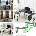 L-Shaped Corner Computer Gaming Desk Wood Steel Laptop Table Workstation Office
