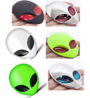3D Alienware Alien Head UFO Metal Auto Motorcyle Badge Emblem Decal Sticker 1pc