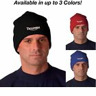 Triumph Motorcycle Logo Ver 2 Knit Hat Beanie Cap Avail. in 3 Colors! $12.99 USD