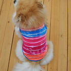 Pet Clothes Dog T-Shirt Coat Pet Puppy Cat Thin Colorful Vest Costume Apparel
