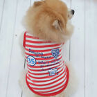 Small Dog Pet Cat Clothes Fashion Stripe Vest T-Shirt Coat Dog Costume Apparel