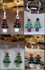 Swarovski Crystal Element Short Christmas Tree Earrings Gift boxed *Your Choice