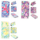 Lilly Pulitzer Design Wallet Leather case for Samsung GALAXY S7 p1409