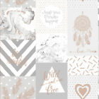 Holden Decor Life Is Beautiful Patchwork Wallpaper Grey/Rose Gold 90051