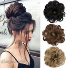 Thick Messy Bun Chignon Updo Hair Scrunchie Elastic Hair Extensions Ponytail F5i