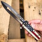 "8.5"" TAC FORCE Spring Assisted Open Folding Butterfly Style Pocket Knife Blade"