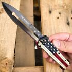 """8.5"""" TAC FORCE Spring Assisted Open Folding Butterfly Style Pocket Knife Blade"""