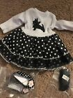 """For Aerican Girl 18"""" Doll Clothes  Parisian Scotie Dress With Bonus Items"""