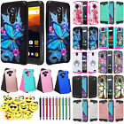 For ZTE Max XL N9560 Blade 3 Hybrid Armor Shockproof Cover Phone Hard Case