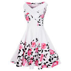 Criss Cross Plus Size Floral Retro Pin Up Dress