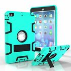 Kids Safe Shockproof Silicone Hard TPU Hybrid Case Cover For iPad mimi 123