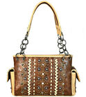 New Montana West Concealed Carry Multi Studded Satchel w/ Side Pockets- 3 Colors