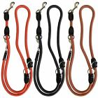 Strong Universal Pet Dog Training Lead 200cm Nylon Rope Leather Comfy Grip Walk