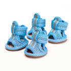 4 Color Pet Stylish Cozy Boots Shoes Dog Puppy Sports Sneakers Sandal Non-slip