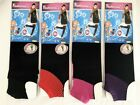 Ladies Footless Stirrup Over the Knee Socks Stockings Black with Coloured Band