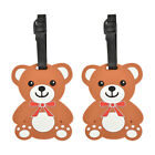 Luggage Tag Silicone Teddy Bear Kids Travel Tags Duffel Suitcase 2 Travel Tags