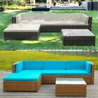 5x Patio Sofa Furniture Garden Outdoor PE Rattan Poolside Sectional Set Hot S4T6