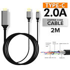4K MHL Type C USB 3.1 to HDMI Media HD TV HDTV Cable Adapter Charger Cord Lead