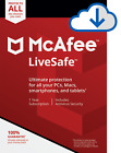 McAfee LiveSafe 2018 Internet Security | Antivirus | AntiMalware | Firewall