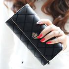 Fashion Women's Bifold Leather Long Wallets Credit/ID Card Holder Party Handhags