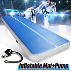 26FT Airtrack Inflatable Air Track Floor Home Gymnastics Tumbling Mat GYM + Pump image