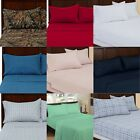 Bed Sheet Set 4pcs Twin 3pcs Egyptian Comfort Choose Color & Size Camo Blue Red image