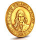 Flotus Melania Trump 2017 Gold Antique Finish Commemorative Challenge Coin