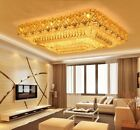 Modern Fashion square chandeliers LED Flush Mount K9 crystal ceiling lamps #2209