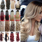 Real Long 100% Natural Hair Extensions Clip in HAIR EXTENTIONS as Human 1PCS F5i