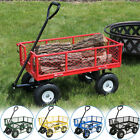 Sunnydaze Heavy Duty Steel Log Cart 400lb Capacity Pneumatic - Choose Color