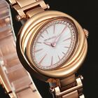Taylor Cole  Women's Crystal Round Stainless Steel Strap Quartz Lady Wrist Watch