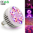 120W E27 LED Grow Light Full Spectrum For Greenhouse Indoor Hydroponic Flowers