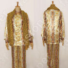 PPAP Costumes Cosplay ppap piko Tops Pants Scarf Suit Satin Dance Costumes Cos