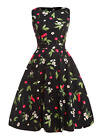 Formal Short Dress 50s Vintage Black Cherry Wedding Party Ball Gown Prom Dresses
