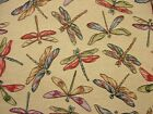 """Dragonfly """"Animal Tapestry"""" Designer Fabric Upholstery Curtains Cushions Throws"""