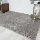 Light Silver Grey Soft Modern Thick Shaggy Cheap Large Small Living Room Rug