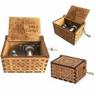 Moana / Godfather / Beauty and the Beast Engraved Wooden Music Box Kids Gifts