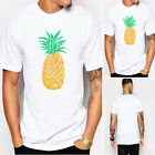 Stylish Mens Summer 3D Print Pineapple Short Sleeve ROUND Neck T Shirts Tee Tops