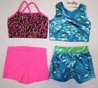 New Girls Crop Top Shorts Set Size 6 SC IC Child Dance Gymnastics Cheer 3 Choice