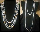 JUDITH RIPKA Sterling Signature Link Tigers Eye Gemstone Bead Necklace 18""
